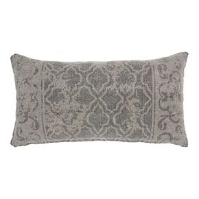 Mina Victory Life Styles Distress Lattice Gray Throw Pillow