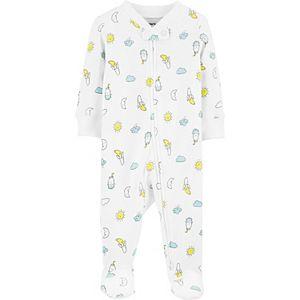 Baby Carter's Banana & Moons 2-Way Zip Stretch Sleep & Play
