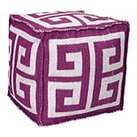 Mina Victory Greek Key Outdoor Cube