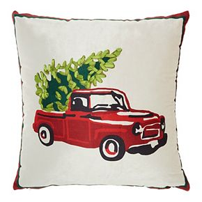 Mina Victory Chevy Tree Multicolor Christmas Throw Pillow
