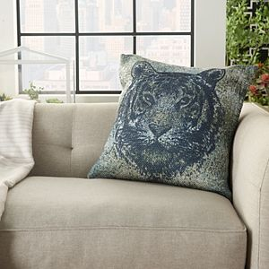 Mina Victory Tiger Indoor/Outdoor Multicolor Throw Pillow