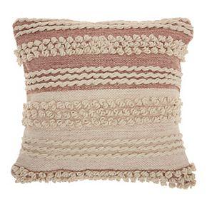 Mina Victory Life Styles Texture Stripes Throw Pillow