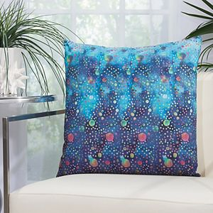 Mina Victory Watercolor Dots Multicolor Outdoor Throw Pillow