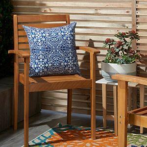 Mina Victory Printed Tiles Indoor/Outdoor Throw Pillow