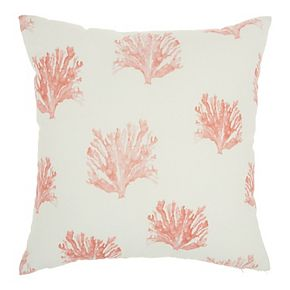 Mina Victory Printed Corals Indoor/Outdoor Throw Pillow