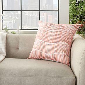 Mina Victory Printed Wavy Lines Indoor/Outdoor Throw Pillow