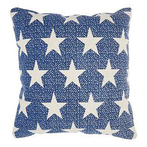 Mina Victory Life Styles Printed Stars Navy Throw Pillow