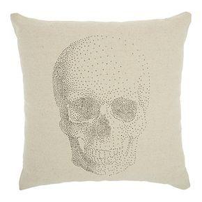 Mina Victory Life Styles Printed Skull Natural Throw Pillow