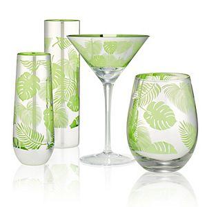 Artland 4-pc. Tropical Leaf Goblet Set