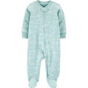 Baby Carter's Animal 2-Way Zip Cotton Sleep & Play