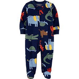 Baby Boy Carter's Animal 2-Way Zip Cotton Sleep & Play