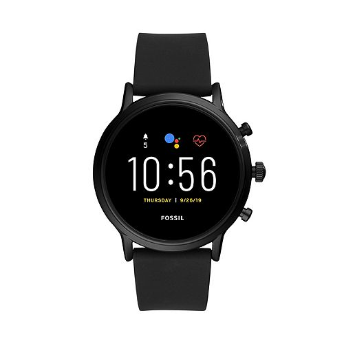 Fossil Gen 5 Carlyle HR Black Silicone Band Smart Watch - FTW4025