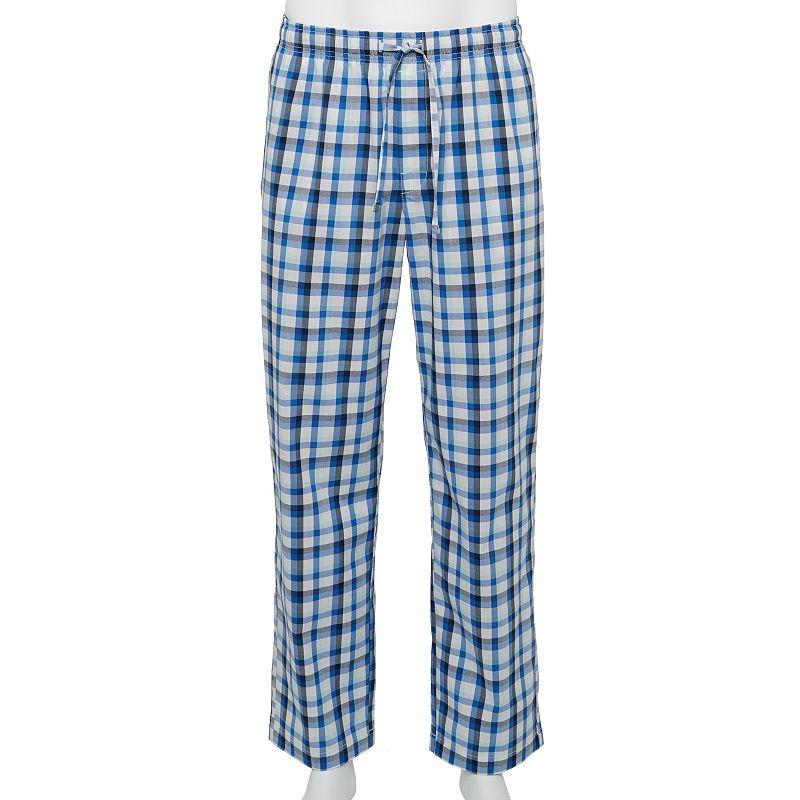 Men's Croft & Barrow Stretch Woven Sleep Pants. Size: Small. Med Blue