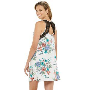 Women's Apt. 9® Floral Lace-Back Chemise