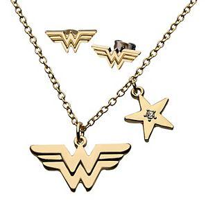 DC Comics Wonder Woman Pendant & Earring Set