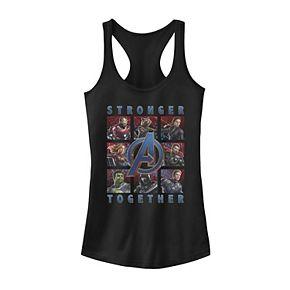"""Juniors' Marvel Avengers Endgame """"Stronger Together"""" Portrait Grid Tank"""