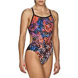 Arena MaxLife Hyper Floral Striped One-Piece Swimsuit