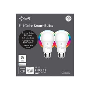 C by GE A19 Bluetooth Smart LED Light Bulb (2-Pack)