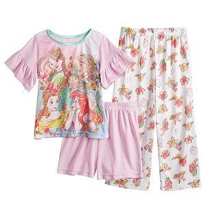 Disney Princess Toddler Girl 3 Piece Pajama Set
