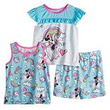 Disney's Minnie Mouse Toddler Girl 3 Piece Unicorn Dreams Pajama Set