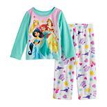 Disney Princess Toddler Girl 2 Piece Pajama Top & Fleece Pants Set