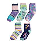 Girls 6-11 Pink Cookie 5-Pack Otter-Theme Crew Scented Socks