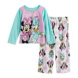 Disney's Minnie Mouse & Daisy Duck Toddler Girl 2 Piece Fleece Pajama Set