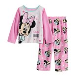 Disney's Minnie Mouse Toddler Girl 2 Piece Fleece Pajama Set