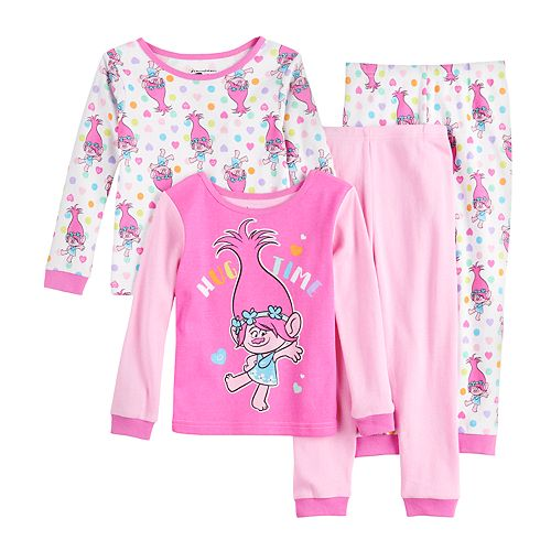Toddler Girl DreamWorks Trolls Poppy 4 Piece Pajama Set