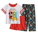 Disney's Mickey Mouse & Pluto Toddler Boy 3 Piece Pajama Set