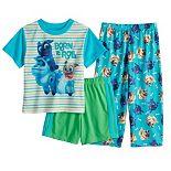 "Disney's Puppy Dog Pals Toddler Boy 3 Piece ""Born to Roll"" Rolly & Bingo Pajama Set"