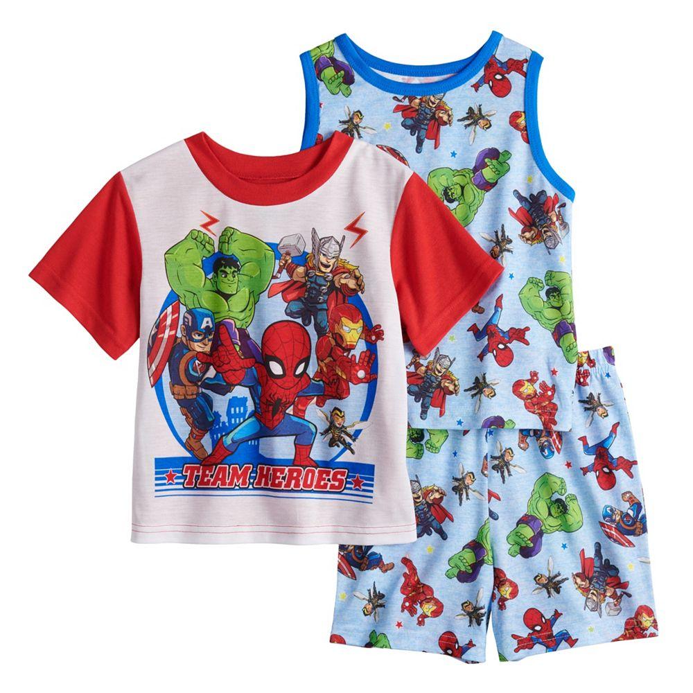 Toddler Boy Marvel Super Heroes 3 Piece Pajama Set