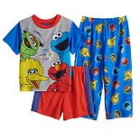 Toddler Boy Sesame Street 3 Piece Pajama Set