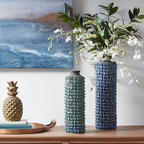 Madison Park Palomino Blue Textured Vase