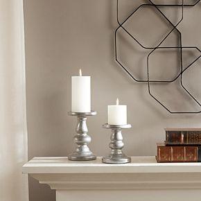 Madison Park Mila Ceramic Candle holders 2-piece Set