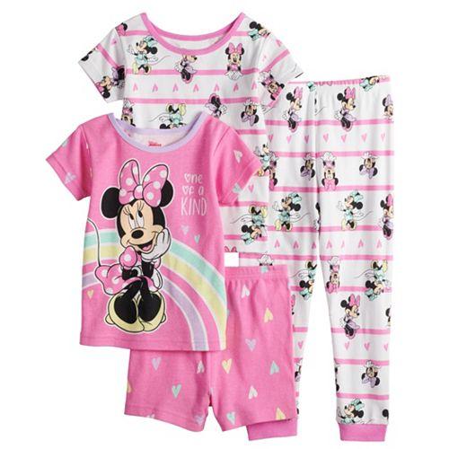 Disney's Minnie Mouse Toddler Girl 4 Piece Pajama Set
