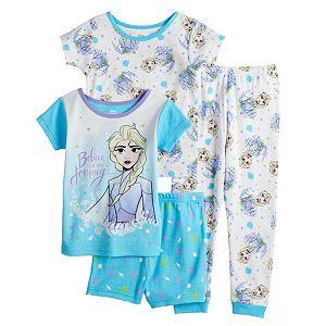 Disney's Frozen 2 Toddler Girl 4 Piece Elsa Pajama Set