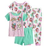 "Toddler Girl Paw Patrol 4 Piece ""Sleep Play Rescue Repeat"" Pajama Set"