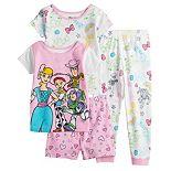 Disney / Pixar Toy Story 4 Toddler Girl 4 Piece Pajama Set