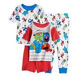 Toddler Boy Sesame Street 4 Piece Pajama Set