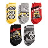 Boys 4-20 Minions 2 5-Pack No-Show Socks