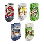 Boys 4-20 Nintendo Mario 5-Pack No-Show Socks