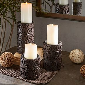 INK + IVY Pacheco large Candle Holder