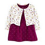 Baby Girl Carter's Floral Cardigan & Bodysuit Dress Set