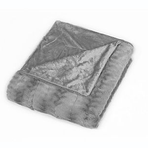 Sleep Soft Micro-Mink Embossed Faux Fur Throw Blanket
