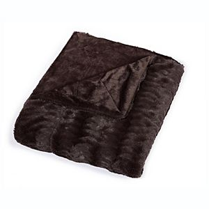 Sleep Soft Micro-Mink Embossed Faux Fur Throw Blanket
