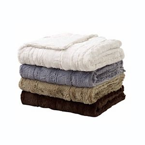Sleep Soft Luxe Embossed Faux Fur Throw