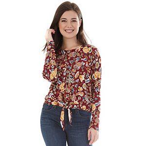 Juniors' IZ Byer Floral Print Pullover Top