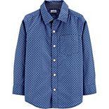 Boys 4-14 Carter's Poplin Button-Front Shirt