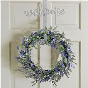 """Sonoma Goods For Life Metal """"Welcome"""" Wreath Holder"""